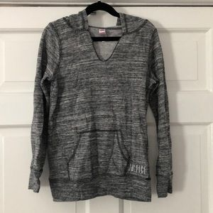 JUSTICE Gray Marbled Hooded Pullover Sweatshirt 8